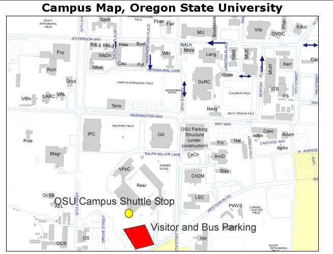 maps of oregon state. Parking Map